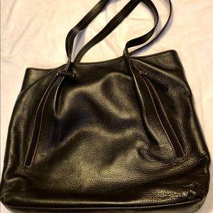 Mocha Brown Leather Levenger shoulder bag